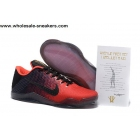 wholesale Nike Kobe 11 Black Red Mens Basketball Shoes