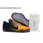 wholesale Nike Kobe 11 Black Yellow Mens Basketball Shoes