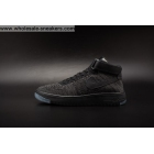 Mens and Womens Nike Air Force 1 Flyknit Black Shoes