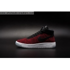 wholesale Mens and Womens Nike Air Force 1 Flyknit Red Black White