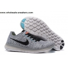 wholesale Nike Free Flyknit 5.0 Grey Mens Running Shoes
