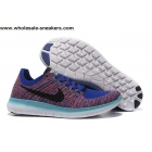 wholesale Nike Free Flyknit 5.0 Blue Multi Color Mens Running Shoes