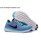wholesale Womens Nike Free Flyknit 5.0 Light Blue Trainer