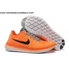 Womens Nike Free Flyknit 5.0 Orange Trainer