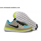 wholesale Womens Nike Free Flyknit 5.0 Volt Multi Color Trainer