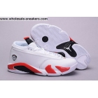 Air Jordan 14 Low Candy Cane White Red Mens Shoes