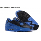 wholesale Nike Air Max 90 Black Blue Mens Running Shoes