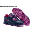 wholesale Womens Nike Air Max 90 London City Navy Pink Shoes