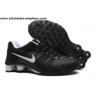 wholesale Nike Shox Current Black White Mens Shoes