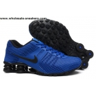 wholesale Nike Shox Current Blue Black Mens Shoes