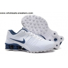 Nike Shox Current White Blue Mens Shoes