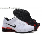 Nike Shox Current White Black Red Mens Shoes
