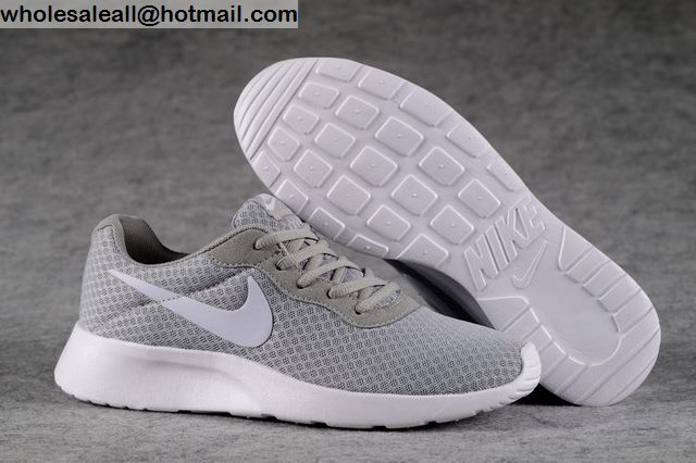 NIKE TanJun Grey White Mens Running Shoes -12322 - Wholesale Sneakers a138a98471d3