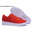 wholesale Nike Air Force 1 Low Flyknit Mens Orange White Shoes