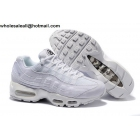 Stussy Nike Air Max 95 All White Mens Shoes