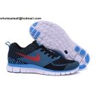 wholesale Nike Free 5.0 Flyknit Black Blue Mens Running Shoes