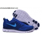 wholesale Nike Free 5.0 Flyknit Blue White Mens Running Shoes