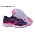 wholesale Womens Nike Free Flyknit 5.0 Navy Pink Shoes