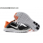 wholesale Nike Free 4.0 V3 Print Black White Orange Mens Trainer