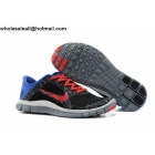 wholesale Nike Free 4.0 V3 Print Black Blue Red Mens Trainer
