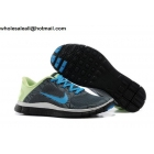wholesale Nike Free 4.0 V3 Print Grey Blue Volt Mens Running Shoes