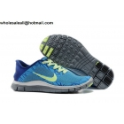 wholesale Womens Nike Free 4.0 V3 Print Blue Volt Running Shoes