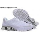 wholesale Nike Shox Turbo 21 White Silver Mens Running Shoes