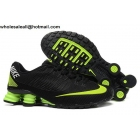 wholesale Nike Shox Turbo 21 Black Green Mens Running Shoes