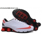 wholesale Nike Shox Turbo 21 White Red Black Mens Running Shoes
