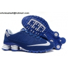 wholesale Nike Shox Turbo 21 Blue White Mens Running Shoes