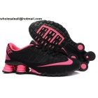 wholesale Womens Nike Shox Turbo 21 Black Pink Running Shoes