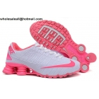 wholesale Womens Nike Shox Turbo 21 White Pink Running Shoes