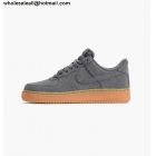 wholesale Nike Air Force 1 Low Grey Gum Suede Mens Shoes