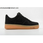Nike Air Force 1 Low Black Gum Suede Mens Shoes