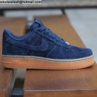 wholesale Nike Air Force 1 Low Midnight Navy Gum Suede Mens Shoes