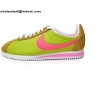 wholesale Nike Cortez Yellowgreen Pink Womens Trainer