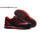 wholesale Nike Air Max 2016 Black Red Size US7 US13 Mens Shoes