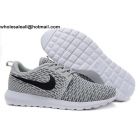 wholesale Nike Flyknit Roshe Run Wolf Grey Mens Running Shoes