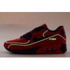 Nike Air Max 90 FireFlies Red Black Mens Shoes