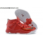 wholesale Nike LeBron Ambassador VIII Red Mens Basketball Shoes
