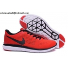 wholesale Nike Flex Run 2016 Red Black Mens Running Shoes