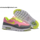 wholesale Womens Nike Air Max 1 Ultra Essentials Pink Grey Volt