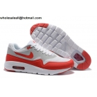 wholesale Nike Air Max 1 Ultra Essentials White Red Mens Running Shoes