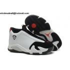 Air Jordan 14 Retro Black Toe Mens Basketball Shoes
