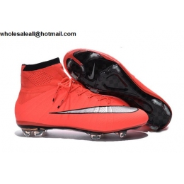 Mens & Womens Nike Mercurial Superfly FG Pink Silver Soccer Shoes