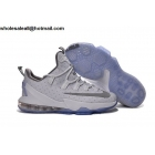 wholesale Nike Lebron 13 Low White Metallic Silver Mens Basketball Shoes