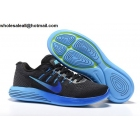 wholesale Nike LunarGlide 8 Flash Black Blue Mens Trainer