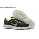 Nike LunarGlide 8 Flash Black Volt Silver Mens Running Shoes