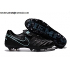 wholesale Nike Tiempo Legend VI FG Black Blue Mens Soccer Shoes