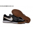 wholesale Nike Tiempo Mystic V IC Black White Mens Indoor Cleats